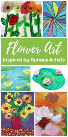 Invite children to paint flowers, inspired by famous artists, with this easy collection of flower art projects and painting ideas for kids. It's the perfect spring activity for kids of all ages! Creative Activities For Kids, Creative Arts And Crafts, Creative Kids, Projects For Kids, Art Projects, Crafts For Kids, Art Activities, Summer Activities, Painting For Kids