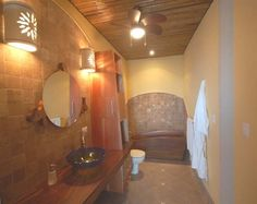 Solid wood tub at Ocaso Cerro Bed & Breakfast in Ojochal, Costa Rica