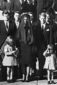 Jackie Kennedy en el funeral de su esposo