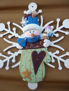 Muñeco de nieve en arcilla polimérica / polymer clay