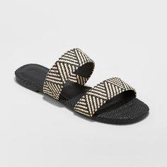 *Dv Women/'s Deadra Tribal Woven Stretch Two Band Slide Slip-On Sandals Black