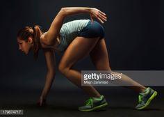 Stock Photo : Female athletics