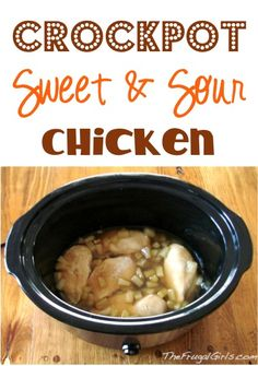 Crockpot Sweet and Sour Chicken Recipe! ~ from TheFrugalGirls.com {this simple Slow Cooker chicken dinner is oh-so-delicious, and perfect with a side of rice!} #slowcooker #recipes #thefrugalgirls