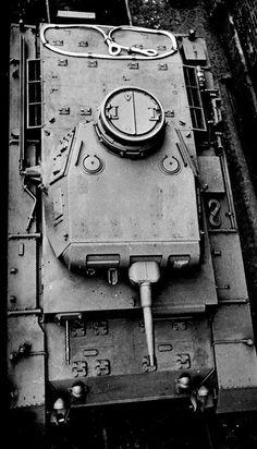 A Panzer 3 top view detail photo