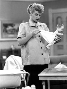 """Dec. 8, 1952. The first TV acknowledgement of pregnancy is made on """"I Love Lucy."""""""