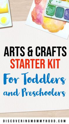 Here everything you need for basic supplies to create an arts and crafts starter kit for your kids at home. Arts and crafts easy ideas.#artsandcrafts #starterkit #athome #forkids  #kidscrafts #kidsart #diycrafts #diyprojects #toddlers #preschoolers #homeschooling #supplies #momlife #socialdistancing Baby Sensory, Sensory Activities, Infant Activities, Activities For Kids, Toddler Preschool, Toddler Crafts, Crafts For Kids, Arts And Crafts, Preschool Education