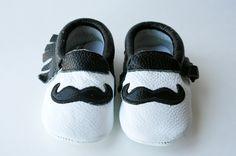 Moustache Moccs - www.miasmoccs.com Toddler Moccasins, Baby Moccasins, Moustache, Baby Shoes, Pairs, Leather, Mustache, Baby Boy Moccasins, Moustaches