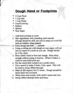 The Sagers Family: Salt Dough Hand & Footprints