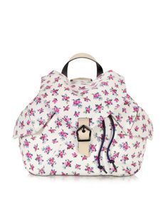 2092bd13c9e Carven Liberty Print Leather Backpack at FORZIERI Liberty Print, Carven,  Leather Handle, Feminine