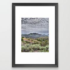 Catalina Clouds Framed Art Print