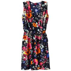Merona® Women's Sleeveless Tulip Wrap Dress - Floral ($25) ❤ liked on Polyvore