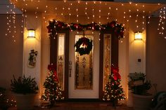 133 Amazing Front Door Porch Christmas Decor Images Christmas