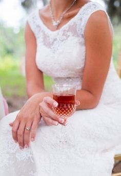 Signature Drink Ideas: Signature peach wedding drink #peach #tasty #drinks #lace  Photo by: Amanda Jayne on Society Bride