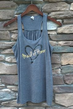 Wedding party tank top.  Personalized bridal by WaterfallDesigns $25