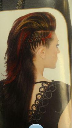 Faux hawk and braids