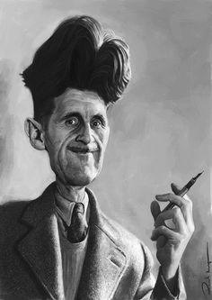 Caricatura de George Orwell