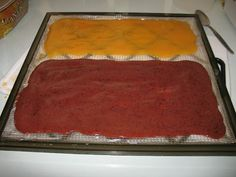 Peach and Cherry fruit leathers- for snacking, just blend fruit in food processor, I don& even add sweetener, and dehydrate Peach Leather Recipe, Peach Fruit Leather, Fruit Leather Recipe, Dehydrator Recipes, Food Processor Recipes, Delicious Desserts, Yummy Food, Canned Food Storage, Cherry Fruit