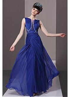 Incredible Natural Waist Sleeveless Long Formal Dress