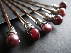 Rustic Fall Fashion Marsala Rose Freshwater Pearls by CassieVision