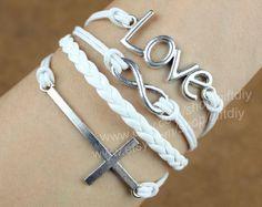 Love Bracelet  infinity bracelet & cross braceletBest by giftdiy, $4.59