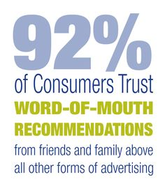 Consumers Trust Word of Mouth Recommendations
