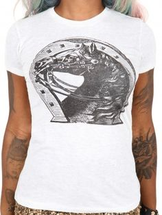 """Women's """"Lady Luck"""" Tee by Annex Clothing (White)"""
