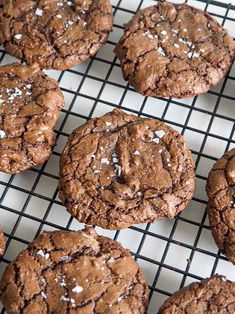 Brownie Cookies, Yummy Cookies, Cake Cookies, Vegetarian Recipes Dinner, Snack Recipes, Dessert Recipes, Snacks, Desserts, Danish Food