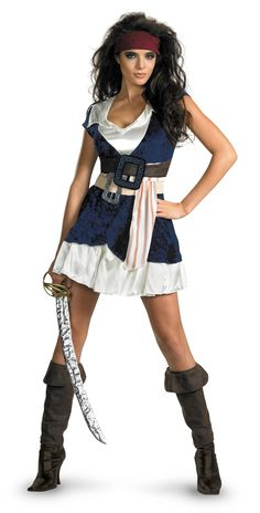 Pirates of the Caribbean Jack Sparrow Sassy Women's Costume