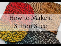 How to Make a Polymer Clay Sutton Slice - YouTube