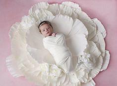 Paper Flower Newborn Photo Prop Keepsake  by CandyTreeBaltimore