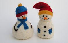 NEEDLE FELTING TUTORIAL  / Snazzy Snowmen Downloadable