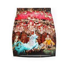 Carousel Skirt  Mermaid  Unicorn  Bodycon  Merry by DifferentCity