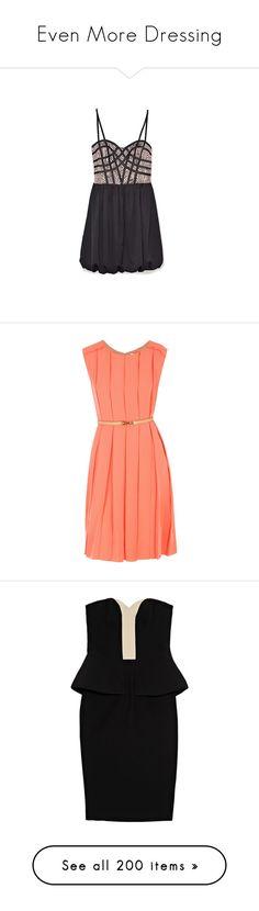 """Even More Dressing"" by happilyjynxed ❤ liked on Polyvore featuring dresses, vestidos, sukienki, vestiti, sale, women, bubble dress, wish dresses, платья and chloe"