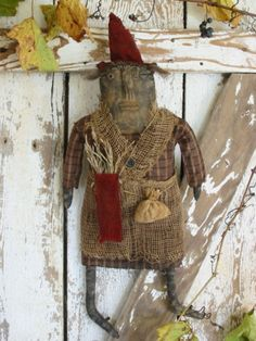 Mrs. Toombs Primitive Doll E-PATTERN