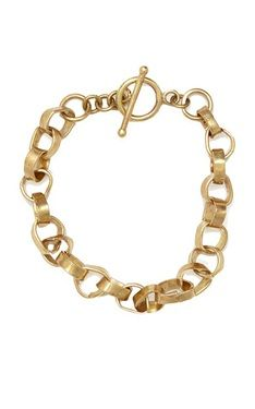 Brass Organic Link Bracelet by Red Earth