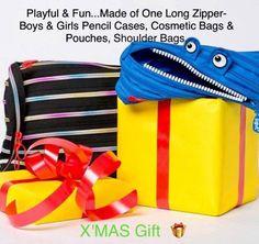 Zipit® Monster Jumbo Pouch Pencil Bag Made from Zipper -Royal Blue