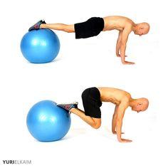 The 14 Best Stability Ball Exercises - Stability Ball Knee Tucks