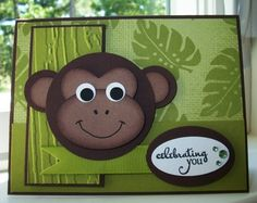 VLVJul2012 - Birthday Monkey by Twinlynn - Cards and Paper Crafts at Splitcoaststampers