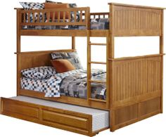 Full over Full Nantucket Hardwood Bunk Bed in Carmel Latte with twin trundle  http://www.bunkbedkingdom.com/products/full-over-full-nantucket-hardwood-bunk-bed-carmel-latte.html