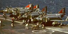 McDonnell Douglas Phantom FG.1 Military Jets, Military Aircraft, Fighter Aircraft, Fighter Jets, British Aircraft Carrier, Hms Ark Royal, F4 Phantom, Capital Ship, Aircraft Photos