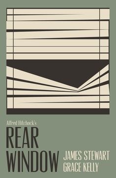 Rear Window Poster by Will Castillo in Showcase of Minimal Movie Posters #1