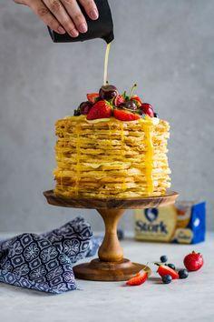 Malva Pudding Waffle Cake - World Baking Day - The Kate Tin