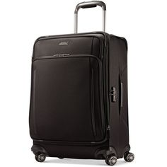 """Samsonite Silhouette Xv 25"""" Spinner Suitcase ($560) ❤ liked on Polyvore featuring bags, luggage and black"""