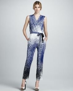 Kawena Dot-Print Jumpsuit by Diane von Furstenberg at Bergdorf Goodman.