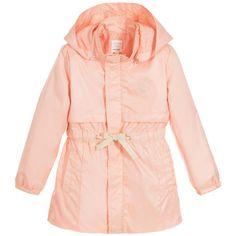 Carrément Beau Girls Peach-Pink Windbreaker Coat at Childrensalon.com