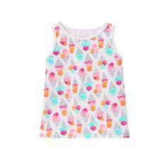 Toddler Girls Cone Print Ice Cream Tank by Gymboree