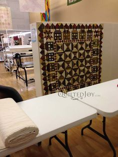 Make a quilt design wall for your studio out of insulation boards and flannel. This tutorial shows you how to create one for your sewing room.