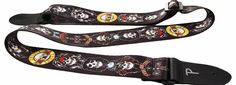 Perri`s Guns N Roses Skulls Polyester Guitar Strap Some of the best bands in the world are all over Perris polyester straps! Cool as hell, comfy and hard wearing, this 2 fully adjustable strap features durable leather end pieces and comes with a wicke http://www.comparestoreprices.co.uk/novelty-gifts/perris-guns-n-roses-skulls-polyester-guitar-strap.asp