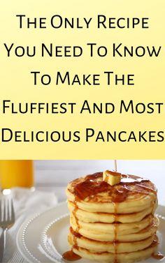 Yummy Pancake Recipe, Tasty Pancakes, Pancake Recipes, Fudge Recipes, Breakfast Items, Breakfast Dishes, Breakfast Recipes, Yummy Eats, Yummy Food
