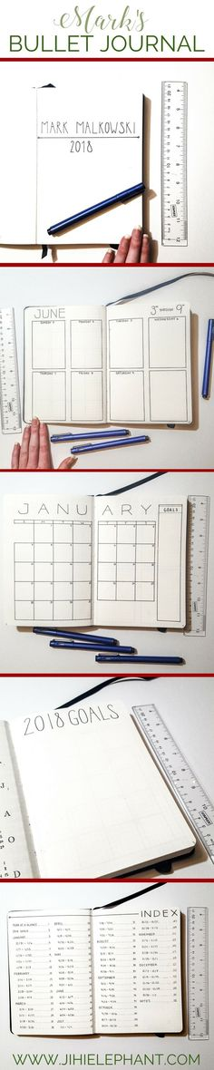 It is a tradition that each year for Christmas I make my boyfriend a planner. Creating a bullet journal for someone else is particularly difficult because you want it to be useful for them and for them to enjoy it. This can sometimes mean that you do not have very much creative freedom. I love making this planner for him—I keep it simple. So here is a walkthrough of the incredibly minimalistic 2018 planner I created as a gift.